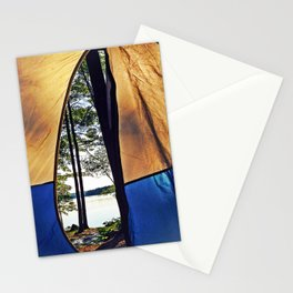 Tent Opening at Lake Pemaquid Campground in Damariscotta, Maine Stationery Cards