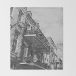 New Orleans French Quarter Throw Blanket