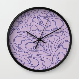 Pastel Pattern II Wall Clock