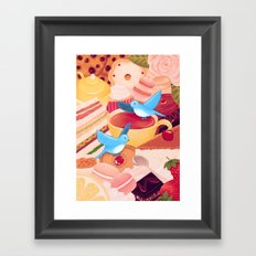 Tea Time Poesy Framed Art Print