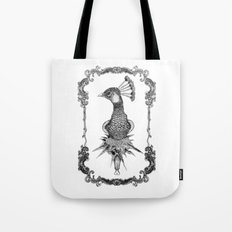 peacock black&white  Tote Bag
