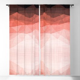 Ocean Night - Abstract Metallic Geometry Coral Blackout Curtain