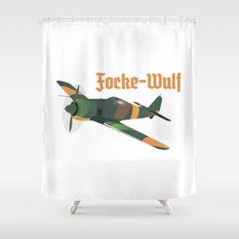 Focke-Wulf Fw 190 German WWII Airplane Shower Curtain
