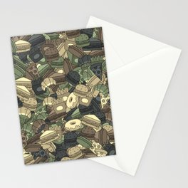 Fast food camouflage Stationery Cards