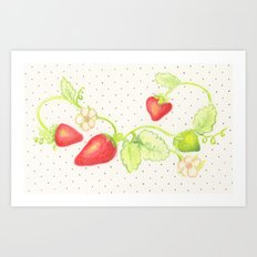 Strawberry Vine Art Print