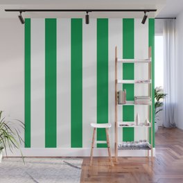 Kelly Green Stripes Wall Mural