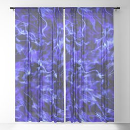 Electric blue Sheer Curtain