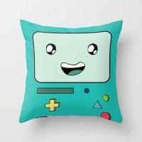 bmo Throw Pillows featuring BMO by Kezarah