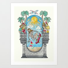 The Lord of the Board Art Print