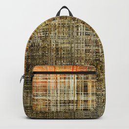 Art abstract colorful geometric intersection background Backpack