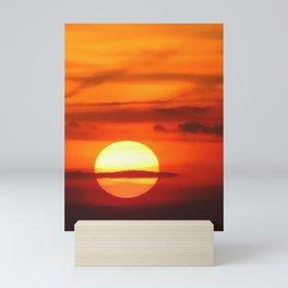 Sunset at Devil's Dyke (UK) Mini Art Print