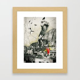 Escaping Sisyphus. Framed Art Print