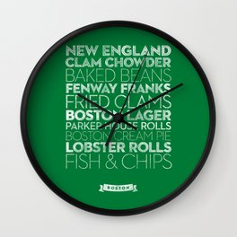 Boston — Delicious City Prints Wall Clock