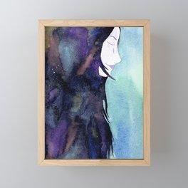 Galaxy woman Framed Mini Art Print