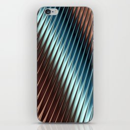 Stripey Pins Teal & Taupe - Fractal Art iPhone Skin