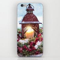 merry christmas iPhone & iPod Skins featuring Merry Christmas by UtArt