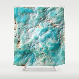 Turquoise Texture Shower Curtain
