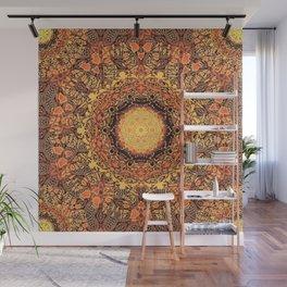 Marigold Mandala Wall Mural