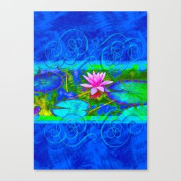 Lotus Blossom Blues Canvas Print