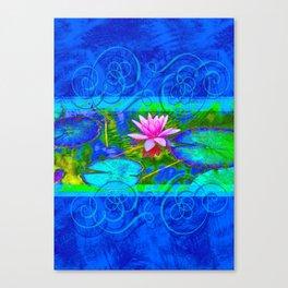 Lotus Blossom Blues Canvas Print