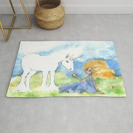 Color your own unicorn Rug