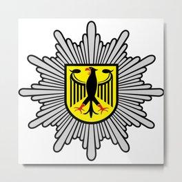 Logo of Federal German Police Metal Print
