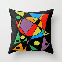 kandinsky Throw Pillows featuring Abstract #130 by Ron Trickett