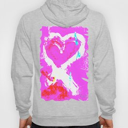 Pink Graffiti Ribbon for Breast Cancer Research by Jeffrey G. Rosenberg Hoody