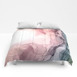 Blush and Blue Dream 1: Original painting Comforters