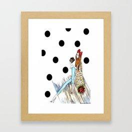 Dots & bow Framed Art Print