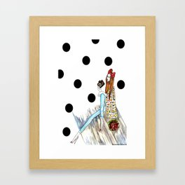 Dots & bow Framed Art Print