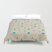 plants Duvet Covers featuring Plants by KatrinDesign