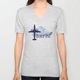 Travel illustration Unisex V-Neck