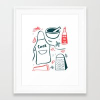 cook Framed Art Prints featuring Cook! by Bethany Thompson