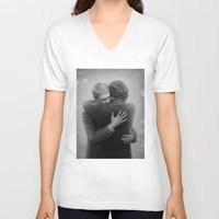 johnlock V-neck T-shirts featuring John and Sherlock by br0-harry