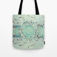 witchoria Tote Bags featuring Flight.  by witchoria