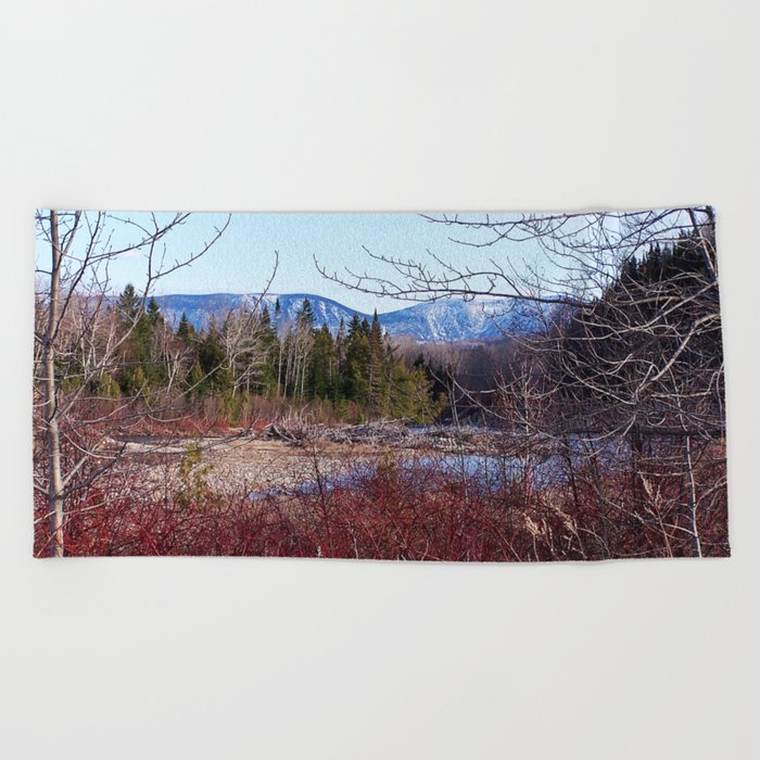 The Way to the Mountain Beach Towel