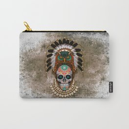 Indian Native Owl Sugar Skull Carry-All Pouch