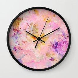 roses sorbet Wall Clock