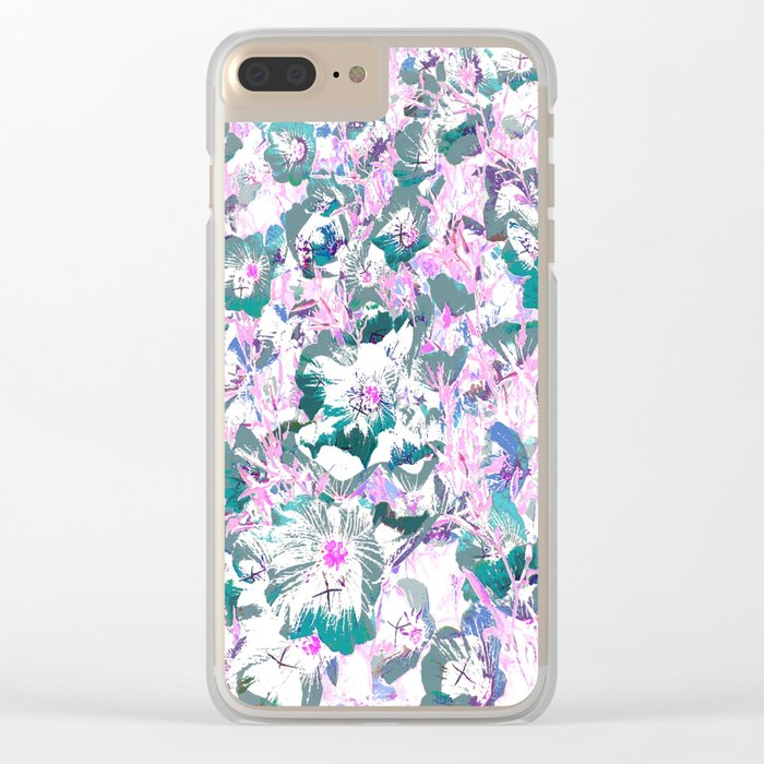 Blooming carpet Clear iPhone Case