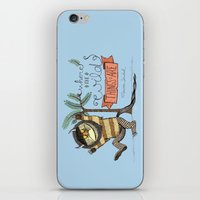 wild things iPhone & iPod Skins featuring Wild Things by Sofia Verger