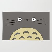 studio ghibli Area & Throw Rugs featuring My neighbor troll - Studio Ghibli by Drivis
