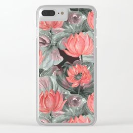 Water Lily .2 Clear iPhone Case