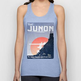 Final Fantasy VII - Visit Junon Propaganda Poster Unisex Tank Top