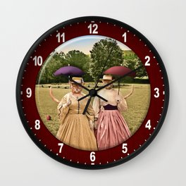 Two Pretty Kitties: Out for a Stroll Wall Clock