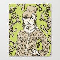 baroque Canvas Prints featuring Baroque  by Danielle Feigenbaum