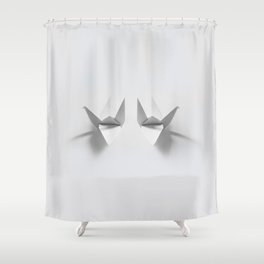 Paper origami crane Shower Curtain