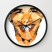obama Wall Clocks featuring ICONS: Obama by LeeandPeoples