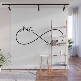 Inhale, exhale, infinity sign Wall Mural