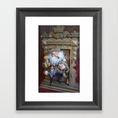 Rucus Studio Santa Claus with Toys Framed Art Print
